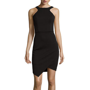 Bisou Bisou® Sleeveless Halter Bodycon Dress - JCPenney
