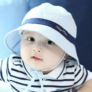 PEAP78W Toddler Infant Hat Sun Cap Summer Outdoor Baby Girl Hats Sun Beach Bucket Hat 3 Colors