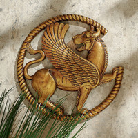 Park Avenue Collection Persian Griffin Wall Sculpture