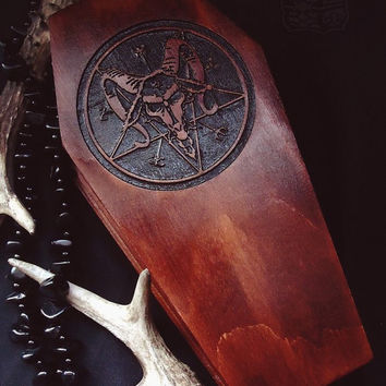 Witch box, Baphomet casket, RED