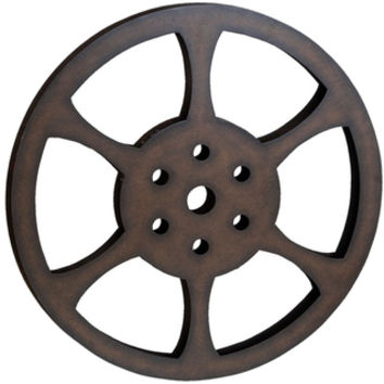 Hollywood 32-inch Metal Film Reel Home Movie Theater Accent Decor