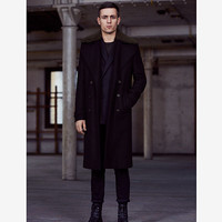 Mens Colonel Coat (Ink) | ALLSAINTS.com