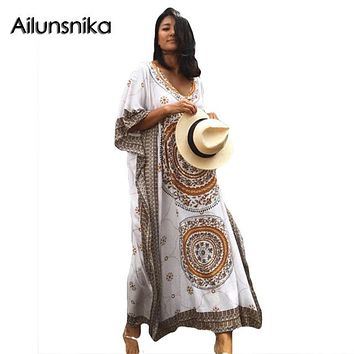 Plus Size  Kaftan Boho Maxi Dress