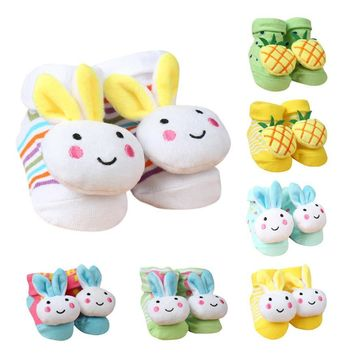 Baby socks Cartoon Newborn Baby Girls Boys Anti-Slip Socks Slipper Shoes Boots
