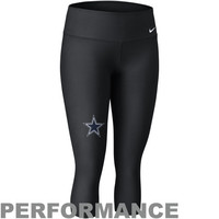 Nike Dallas Cowboys Womens Performance Capri Pants - Black
