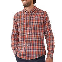 Washed Seasons Plaid Button Down in Rust/Navy by The Normal Brand