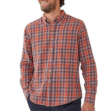 Washed Seasons Plaid Button Down in Rust/Navy by The Normal Brand - FINAL SALE
