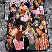 Sam Winchester Supernatural Collage for iPhone 4/4s, iPhone 5/5S/5C/6, Samsung S3/S4/S5 Unique Case *99*