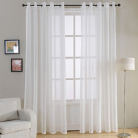 White Sheer Curtains for Living Room Bedroom Kitchen Decorative Curtain
