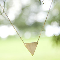 Pretty Pieces Gold And Silver Triangle Pendant Necklaces