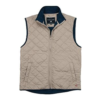 Marshall Quilted Vest in Knob Gray by Southern Marsh