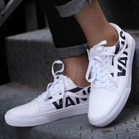 Vans OLD SKOOL x Supreme men and women fashion casual shoes