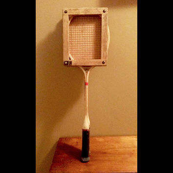 Antique Vintage RARE Two Badmiton FJ Bancroft & Royal Wood Badminton Racquets