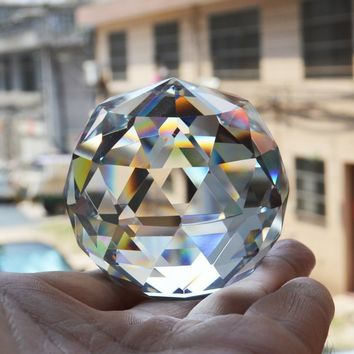 20/30/40mm Quartz Crystal Glass Faceted Ball Natural Stones and Minerals Feng Shui Miniature Figurine