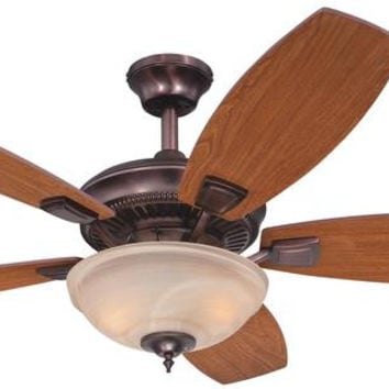 Tulsa 52-Inch Reversible Plywood Five-Blade Indoor Ceiling Fan