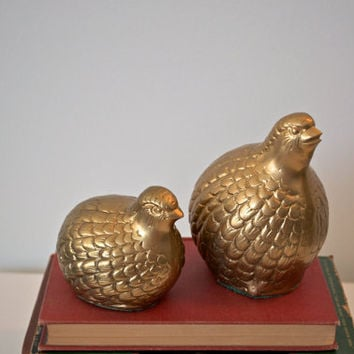 Vintage brass birds set of 2 by SCAVENGENIUS on Etsy