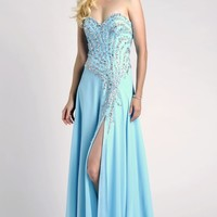 Beaded Strapless Gown by Envious Couture Prom