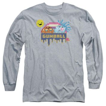 Amazing World Of Gumball - Sunshine Long Sleeve Adult 18/1 Officially Licensed Shirt