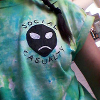 SOCIAL CASUALTY ALIEN Tie Dye Shirt Hipster Teen