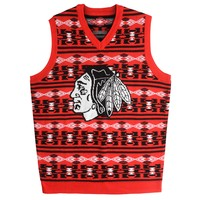 Chicago Blackhawks NHL 2015 Ugly Knit Vest Holiday Sweater