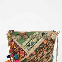 Love Sam Coins Embroidered Crossbody Bag- Black Multi One