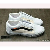 Vans OLD SKOOL X OFF- ANS joint limited edition shoes F-HAOXIE-ADXJ White