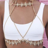 Vivianna Gold Decorative Bralette