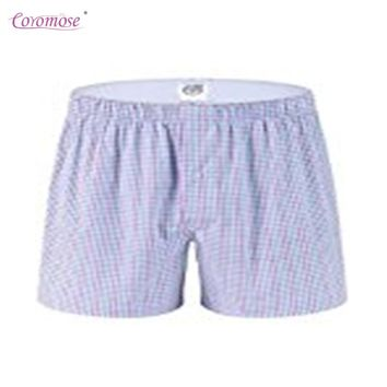 Coromose Individual Package Pajama Bottoms Pants for Men Vertical Stripe/Plaid Lounge Shorts 2017 new fashion