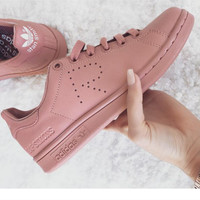 Adidas Stan Smith Women MEN Casual Sport Print R Shoes Pink