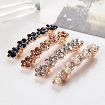 Colorful Barrettes Clamp Crystal Hairpin