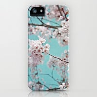 blossoms all over ~ color option teal iPhone & iPod Case by Iris Lehnhardt