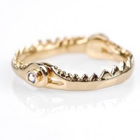Little Mermaid Hinged Fish Jaw Ring (Gold) | Disney Couture Jewelry