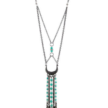 Together Again Necklace in Turquoise and Antique Silver