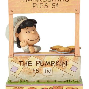 Peanuts by Jim Shore Lucy Thanksgiving Pie Stand – 6000979
