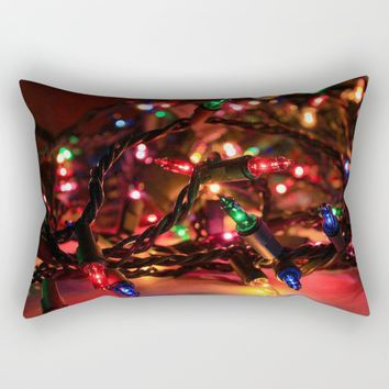 Just Lights Rectangular Pillow by Jessica Ivy