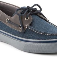 Sperry Top-Sider Bahama Heavy Canvas 2-Eye Boat Shoe NavyCanvas/GrayLeather, Size 11M  Men's