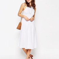 ASOS | ASOS 90's High Neck Midi Dress at ASOS
