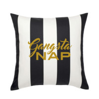 GANGSTA NAP THROW PILLOW