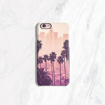 Palm Tree iPhone Case, iPhone 8 Case Tough, iPhone 7 Case Tough, Summer iPhone Cases, Pink iPhone Case, City iPhone Case, Palm Trees