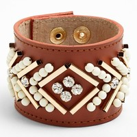 Nordstrom 'Layers of Love' Embellished Leather Bracelet