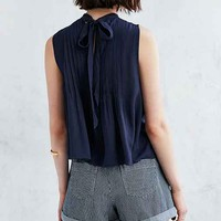 Cooperative Pintucked Tie-Back Tank Top