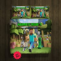 Set Gift Minecraft x box fleece blanket (Large)& 2pillow Cases#80261446,80814508(2) - Home Deco On Line