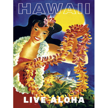Personalized Live Aloha Wood Sign