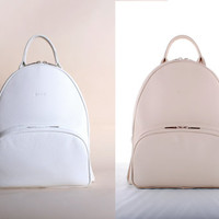 SALE KATLYN // leather backpack in white/beige italian by GIONbag