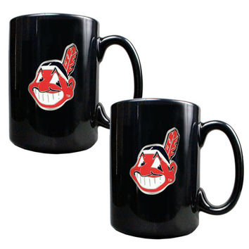 MLB Cleveland Indians 2pc Coffee Mug Set