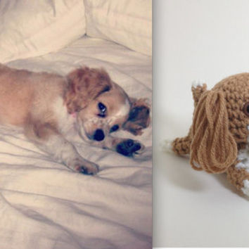 Custom Amigurumi Dog Crochet Puppy Stuffed Animal Plush Doll Doggie Decoration Ornament / Made to Order