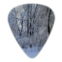 February Snowstorm Pearl Celluloid Guitar Pick
