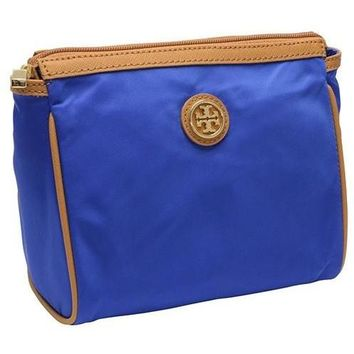 Tory Burch Cosmetic Bag Dena Nylon Royal Blue