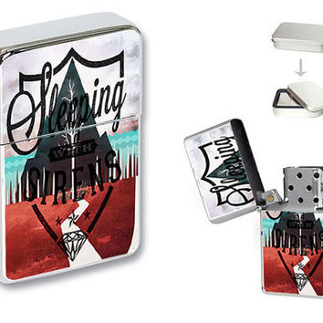 New Sleeping with Sirens Band Flip Top Pocket Lighter Collection + Gift Box