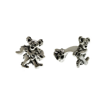 Grateful Dead Dancing Bear Sterling Silver Cufflinks